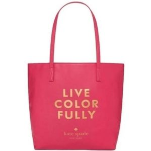kate spade Pink Live colorfully Tote bag
